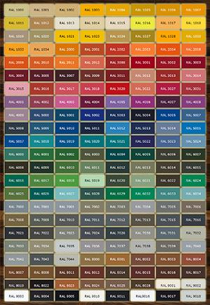 RAL színkódok